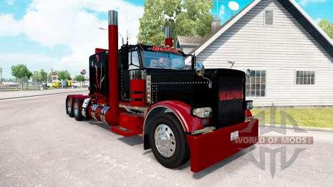 Deadpool skin for the truck Peterbilt 389 for American Truck Simulator