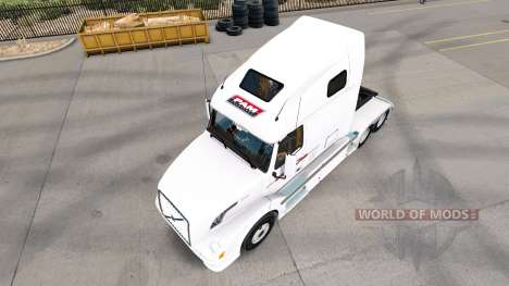 Skin P. A. M. on tractor Volvo VNL 670 for American Truck Simulator