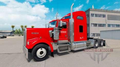 Скин Knight Transportation на Kenworth W900 for American Truck Simulator