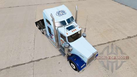 Skin UNC Tarheel on the truck Kenworth W900 for American Truck Simulator