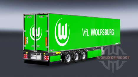 Semi-Trailer Chereau VfL Wolfsburg for Euro Truck Simulator 2