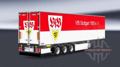 Semi-Trailer Chereau VfB Stuttgart for Euro Truck Simulator 2