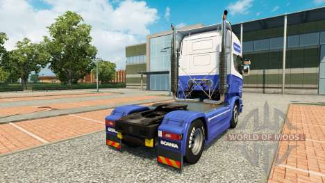 The H. Veldhuizen BV skin for Scania truck for Euro Truck Simulator 2