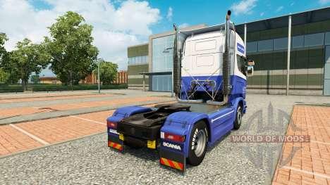 The H. Veldhuizen BV skin for Scania truck for Euro Truck Simulator 2