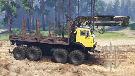 KamAZ-5322 8x8 for Spin Tires