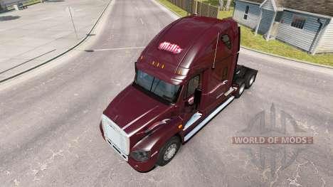 Skin Millis on tractor Freightliner Cascadia for American Truck Simulator