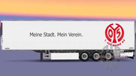 Semi-Trailer Chereau 1. FSV Mainz 05 for Euro Truck Simulator 2
