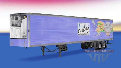 Skin Alaska for semi-refrigerated for American Truck Simulator