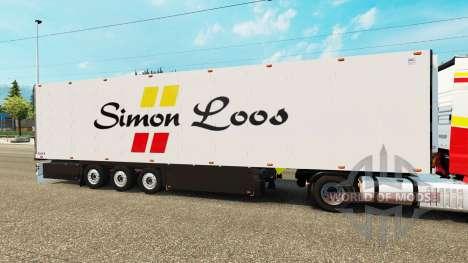 Semitrailer refrigerator Schmitz Simon Loos for Euro Truck Simulator 2