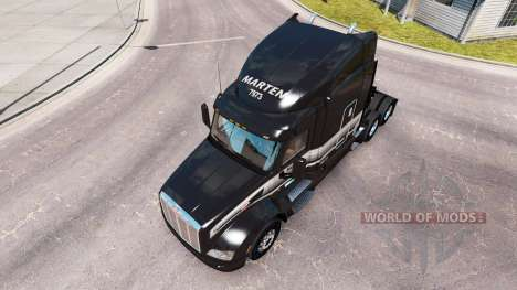 Skin Marten Transport LTD truck Peterbilt for American Truck Simulator