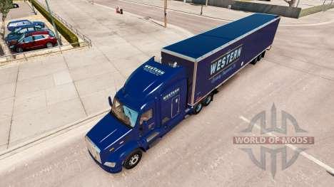 Western skin for the truck Peterbilt for American Truck Simulator