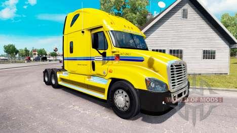 Skin on Penske truck Freightliner Cascadia for American Truck Simulator