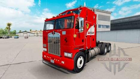 Scuderia Ferrari skin for Kenworth K100 truck for American Truck Simulator