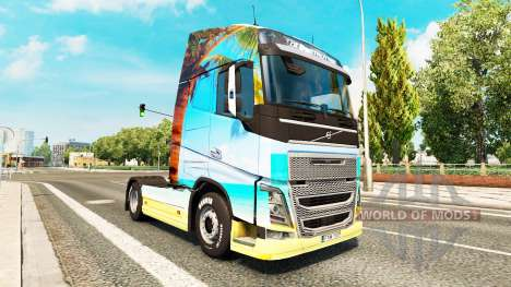 Nature skin for Volvo truck for Euro Truck Simulator 2