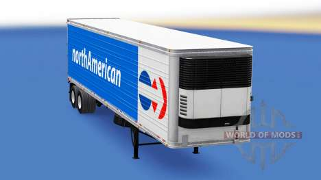 Refrigerated semi-trailer North American for American Truck Simulator