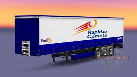 Skin Rapidao Cometa on the trailer for Euro Truck Simulator 2