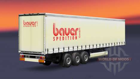 Skin Bauer Spedition GmbH on the trailer for Euro Truck Simulator 2