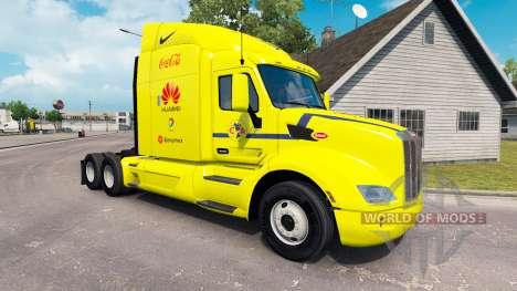 America skin for the truck Peterbilt for American Truck Simulator