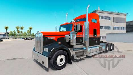 Flash skin for Custom truck Kenworth W900 for American Truck Simulator