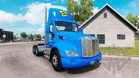 UShip skin for the truck Peterbilt for American Truck Simulator