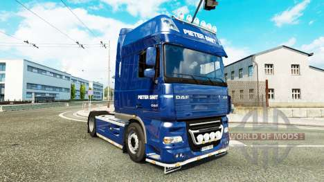 Pieter Smit skin for DAF XF 105.510 tractor unit for Euro Truck Simulator 2