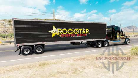 Skin Rockstar Energy for semi-refrigerated for American Truck Simulator