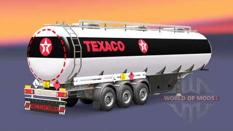 Fuel semi trailer Texaco for Euro Truck Simulator 2