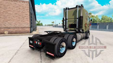 Skin Military Girls on tractor Kenworth K100 for American Truck Simulator