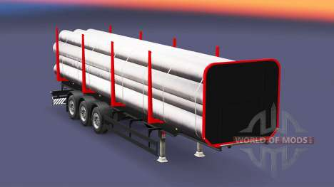A semi-trailer truck for Euro Truck Simulator 2