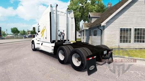 Swift Transportation skin for the truck Peterbil for American Truck Simulator