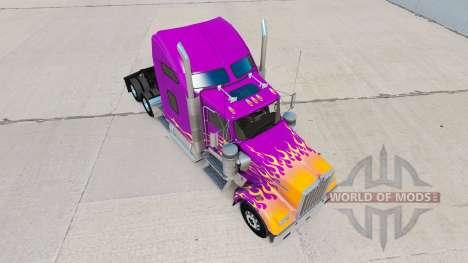 Skin California Flames on the truck Kenworth W90 for American Truck Simulator