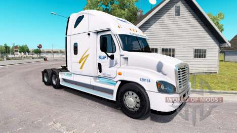 Skin Swift on tractor Freightliner Cascadia for American Truck Simulator