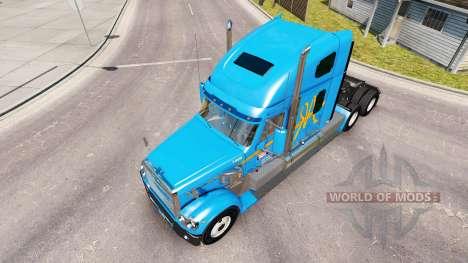 Skin A&R on the truck Freightliner Coronado for American Truck Simulator