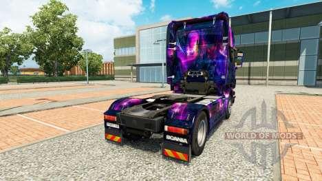 Skin Desktop oGrafhic on tractor Scania for Euro Truck Simulator 2