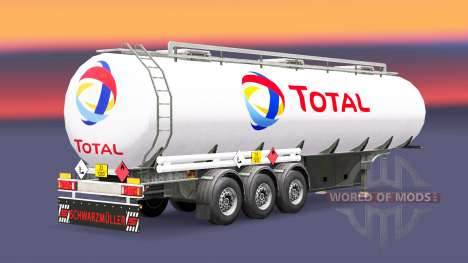 Fuel semi-trailer Total for Euro Truck Simulator 2