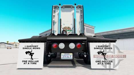 Mudguards I Support Single Moms v1.5 for American Truck Simulator