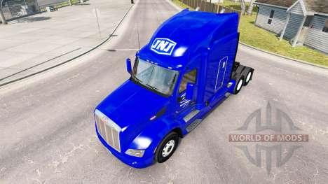 Skin JNJ Express Inc. the tractor Peterbilt for American Truck Simulator