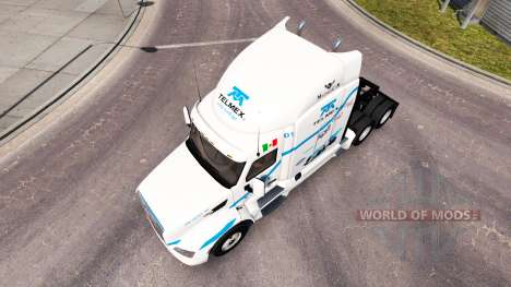 Telmex skin for the truck Peterbilt for American Truck Simulator