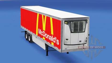 Skin McDonalds on the trailer for American Truck Simulator