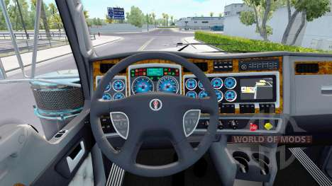 The blue color of the devices have a Kenworth W9 for American Truck Simulator