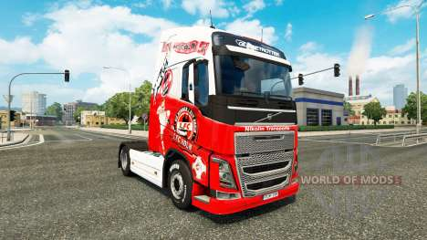 Skin 1. FC Koln at Volvo trucks for Euro Truck Simulator 2