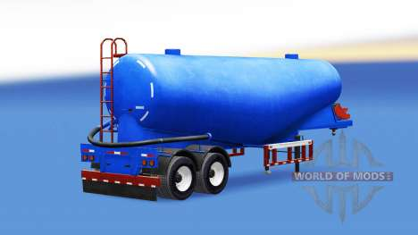Blue color for cement semi-trailer for American Truck Simulator