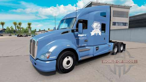 Skin Swift & Diamond Driver on a Kenworth tracto for American Truck Simulator