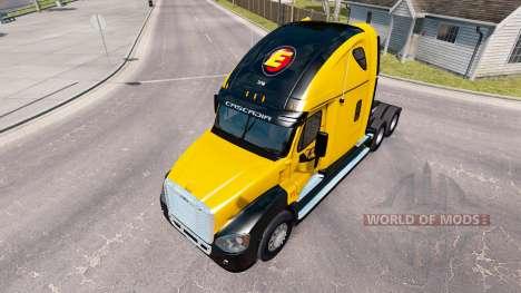 Скин Estes Express на Freightliner Cascadia for American Truck Simulator