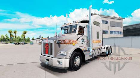 Скин Laughing Daemon Metallic на Kenworth T800 for American Truck Simulator