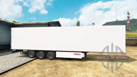 Refrigerated semi-trailer Kogel for Euro Truck Simulator 2