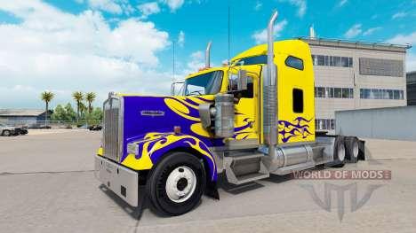 Skin on Nevada Custom truck Kenworth W900 for American Truck Simulator