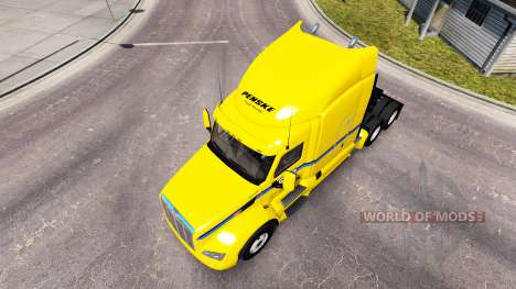 Penske skin for the truck Peterbilt for American Truck Simulator