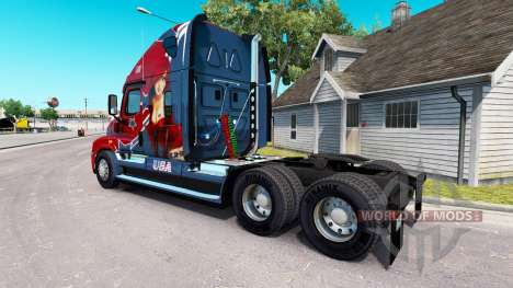 Skin Mandy at tractor Freightliner Cascadia for American Truck Simulator