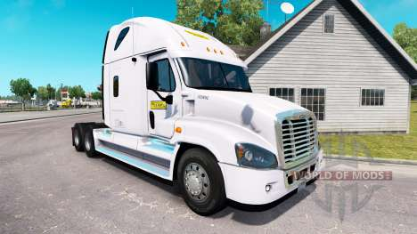 The skin on the J. B. Hunt tractor Freightliner  for American Truck Simulator
